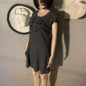 BeBop Size M Black Gray Short Sleeve Dress